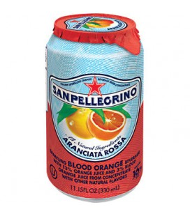 San Pellegrino Sparkling Orange: ARANCIATA Rossa (Blood Orange) Sparkling Fruit Beverage 33cl