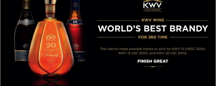 KWV Brandy is World Champion